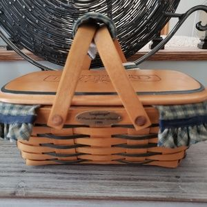 SIGNED Longaberger 1999 Woven Memories Basket Comb
